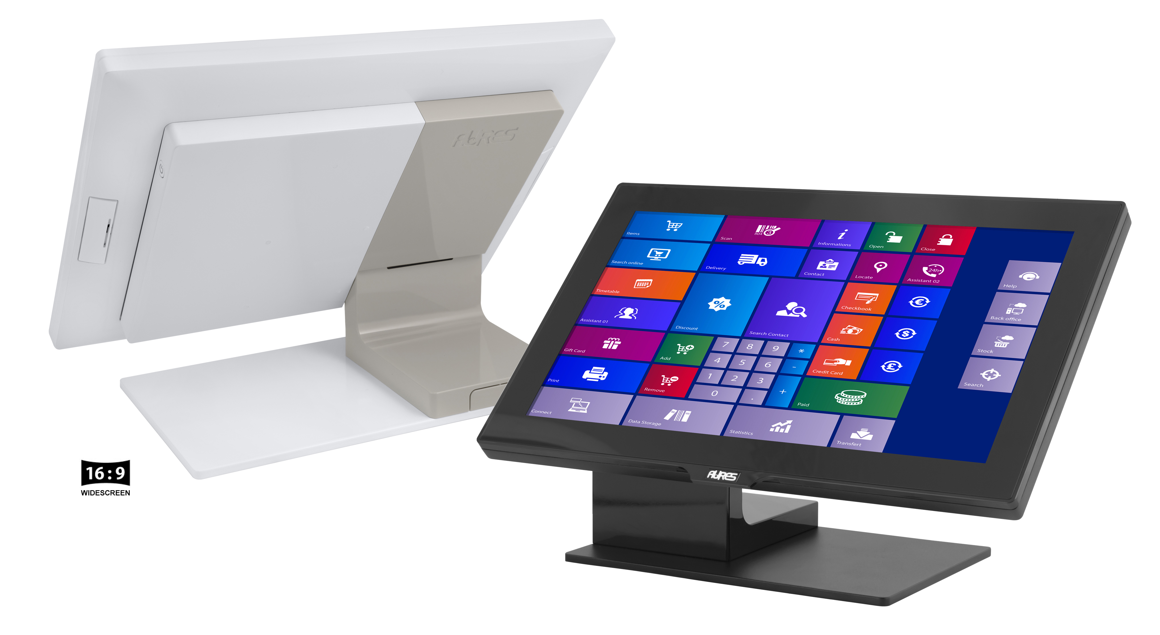 Aures Yuno EPOS terminal - back and front